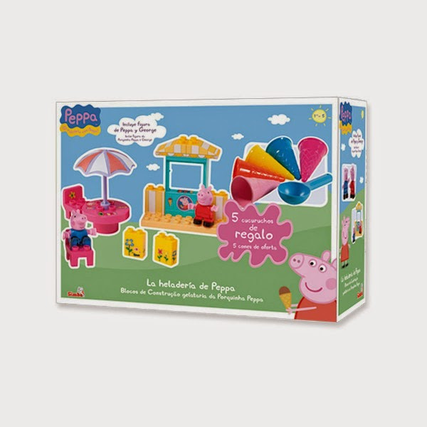 TOYS : JUGUETES - PEPPA PIG  Heladería de Peppa con 5 cucuruchos  Producto Oficial | Simba | Juego de construcción  A partir de 2 años