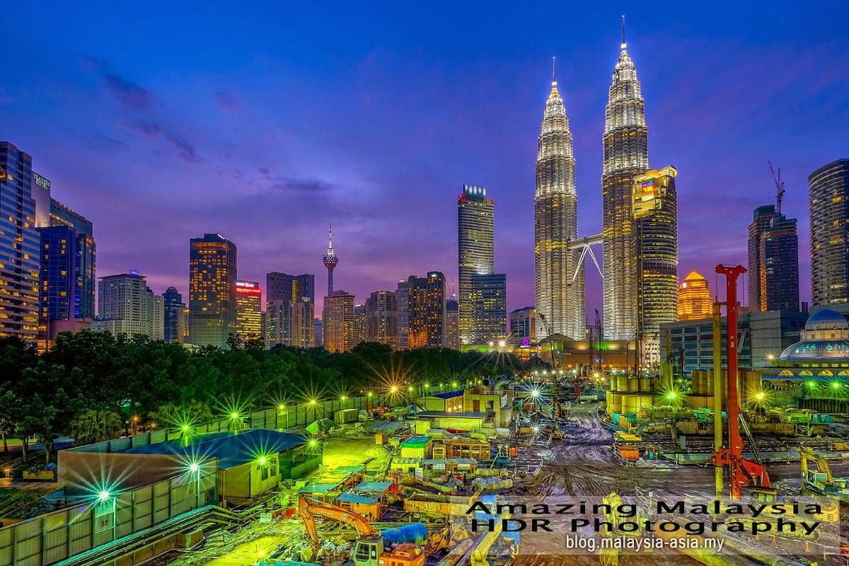 Kuala Lumpur City Construction HDR Photography