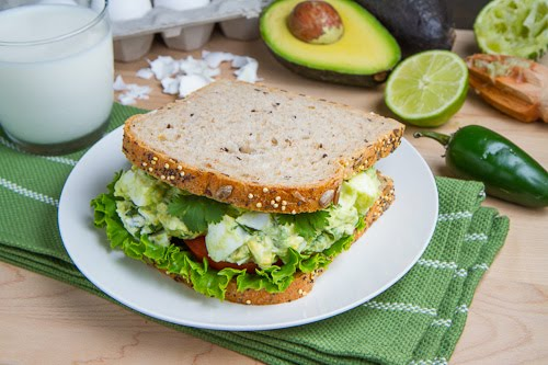 Creamy Avocado/Guacamole Egg Salad Sandwich on Closet Cooking