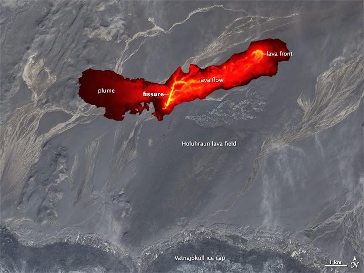 volcán Baradbungaen erupcion, 5 de Septiembre 2014