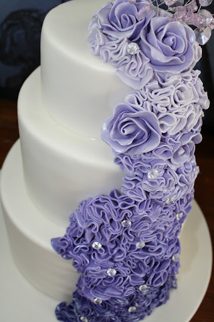 Sandys Cakes Beautiful Graduating Purple Wedding Cake