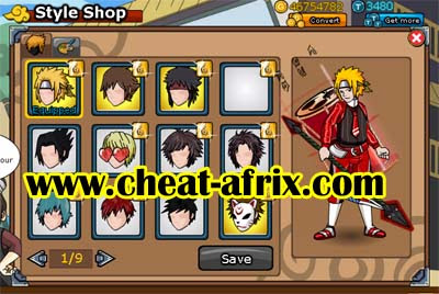 Cheat New Hair Style By Cheat-Afrix Ninja Saga