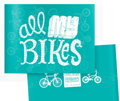 """Type that says """"All my bikes"""""""
