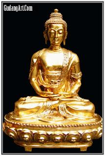 patung budha kuningan