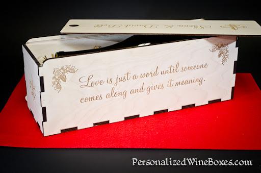 wood wine box, wine gift, wedding gift, wedding wine