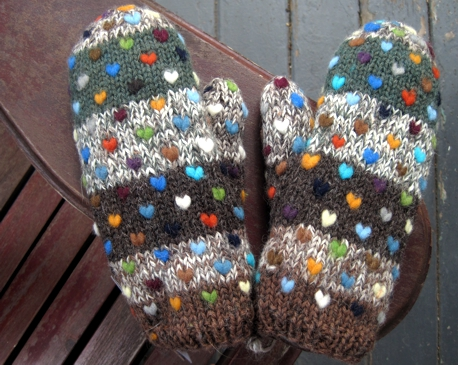 Knitting Pattern For Thrum Mittens : Thrummed mittens, remembered
