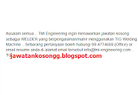 TMI Engineering Kerja Kosong