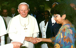 Then Pope John Paul II - now a Saint!