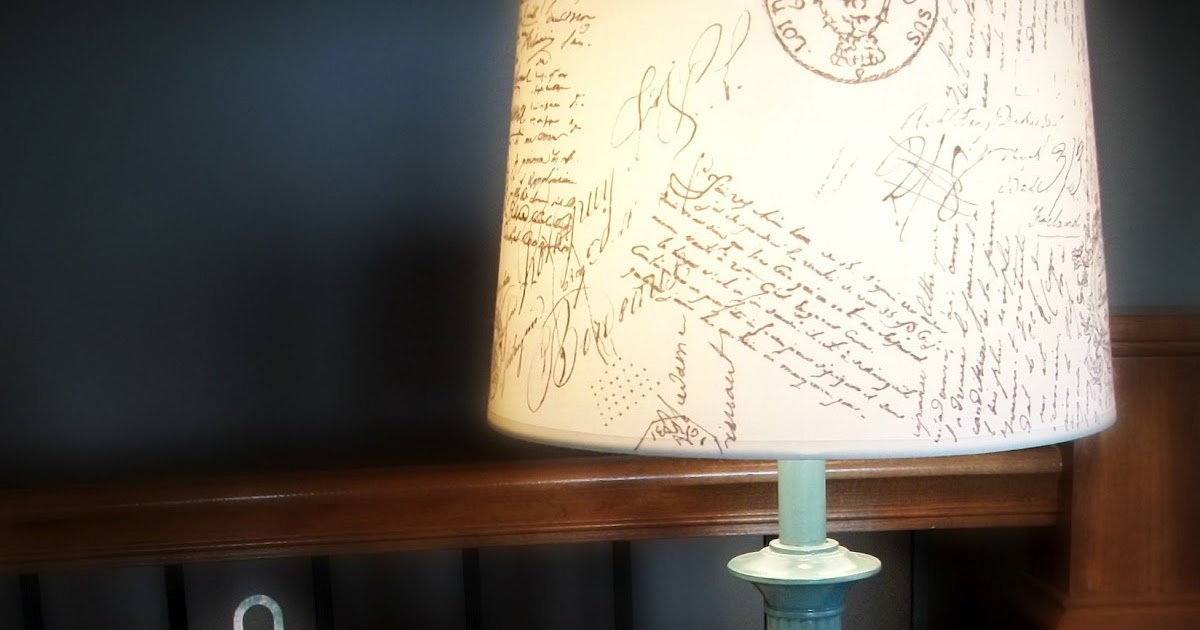The Concrete Cottage Diy French Script Lamp Shade