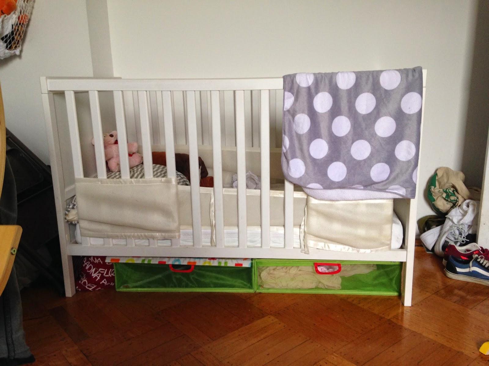 White IKEA Sundvik Crib + Mattress + Storage   $80