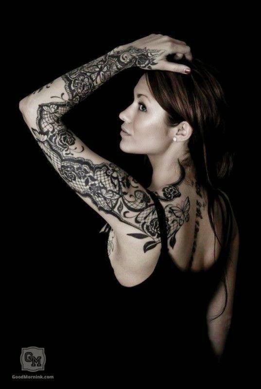 Tatuajes de lencería, encajes y puntillas | Belagoria | la web de los
