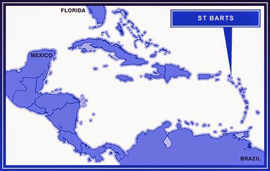 St Barts on the map