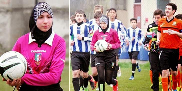 Chahida Chekkafi menjadi wasit liga sepak bola untuk pemain muda pria
