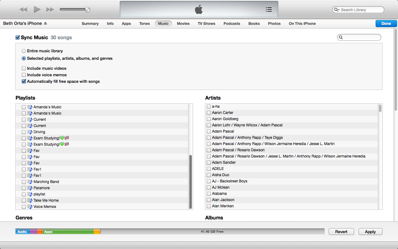 how to only add songs to itunes playlist