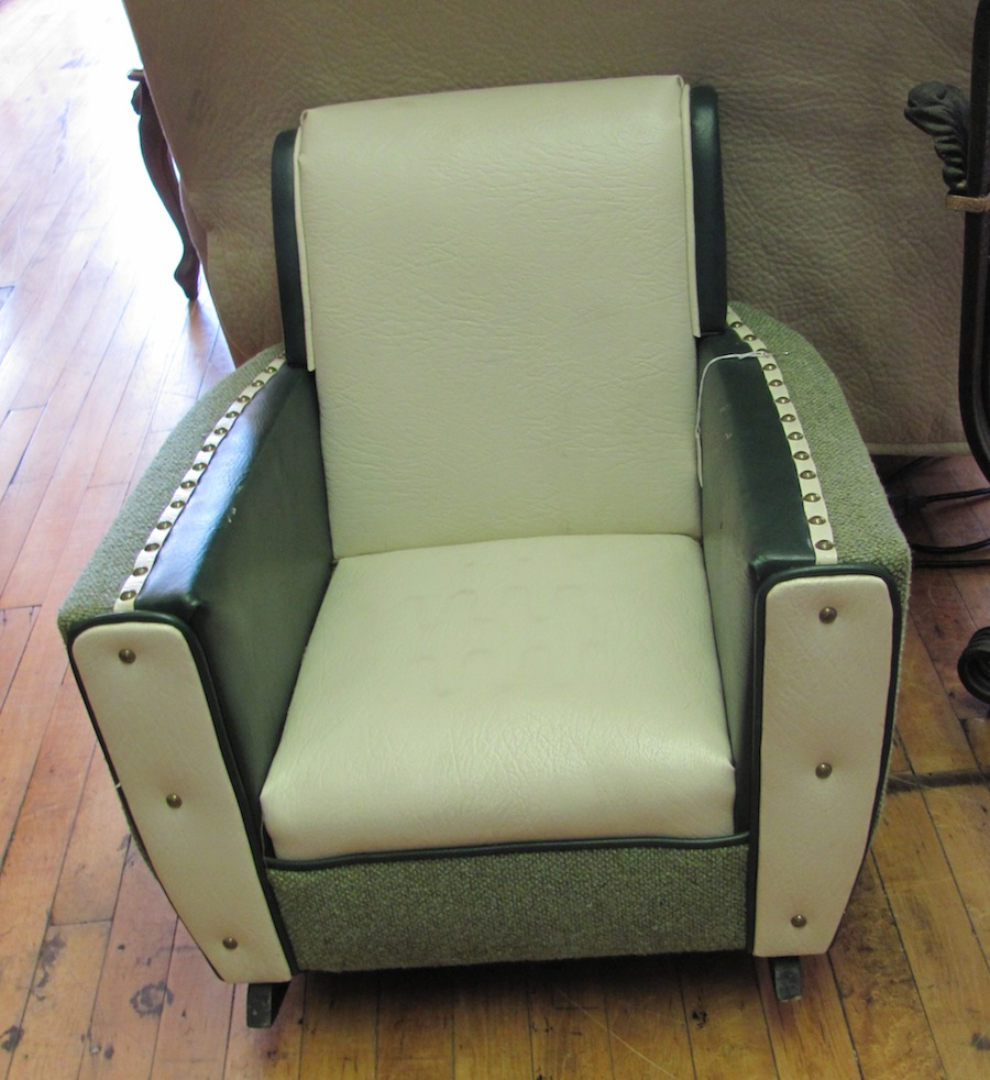How About This 1950s Upholstered Childs Armchair Rocker 78