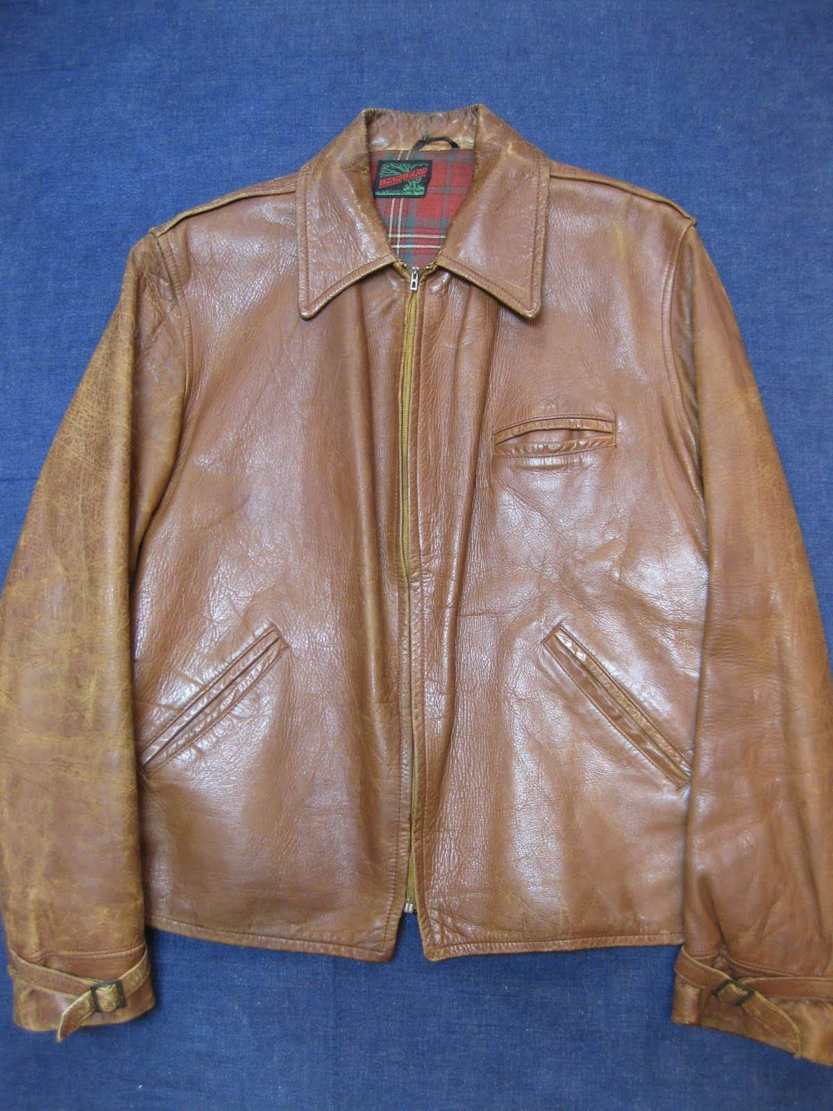 画像①               early 40's               WINDWARD               LEATHER JACKET