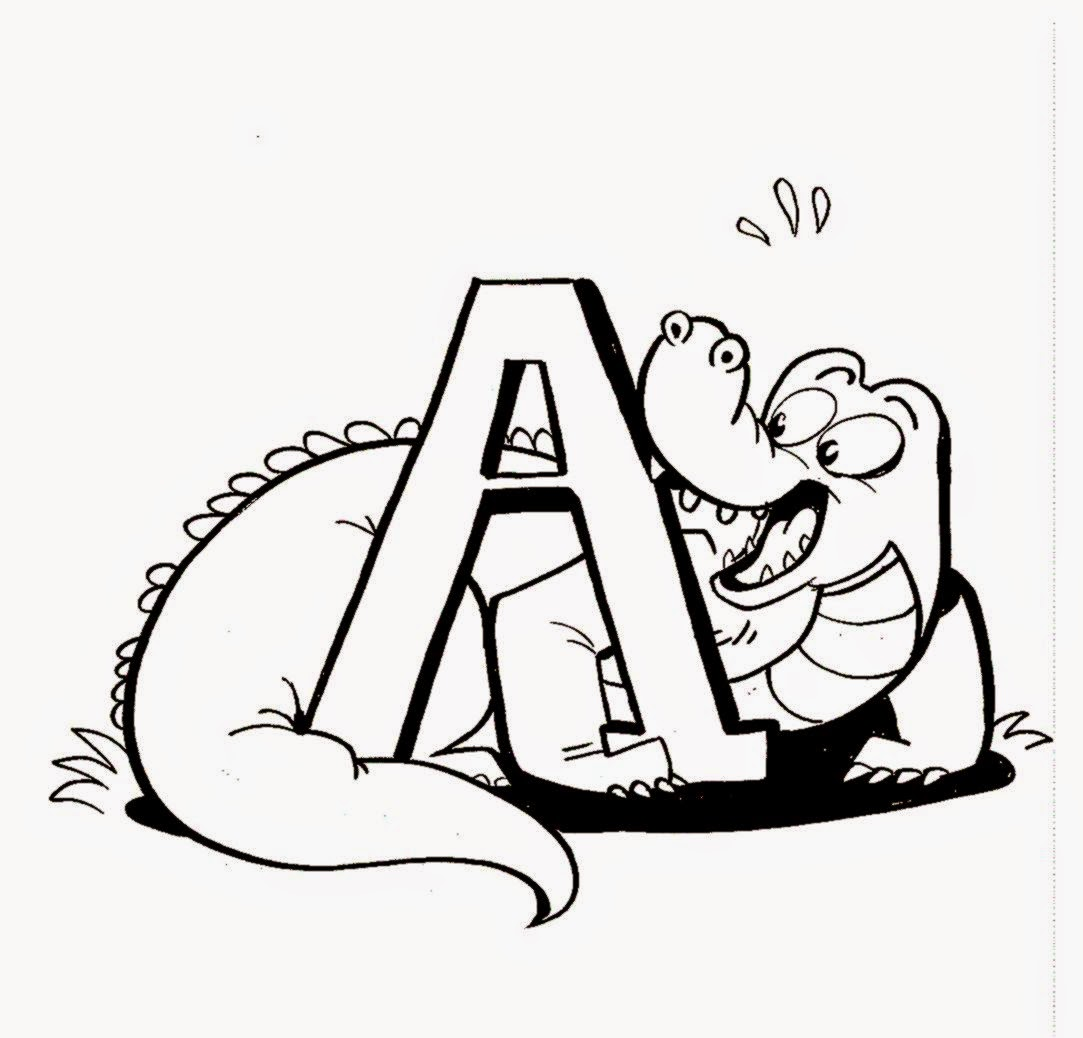 Alligator Pictures To Color | Free Coloring Pictures