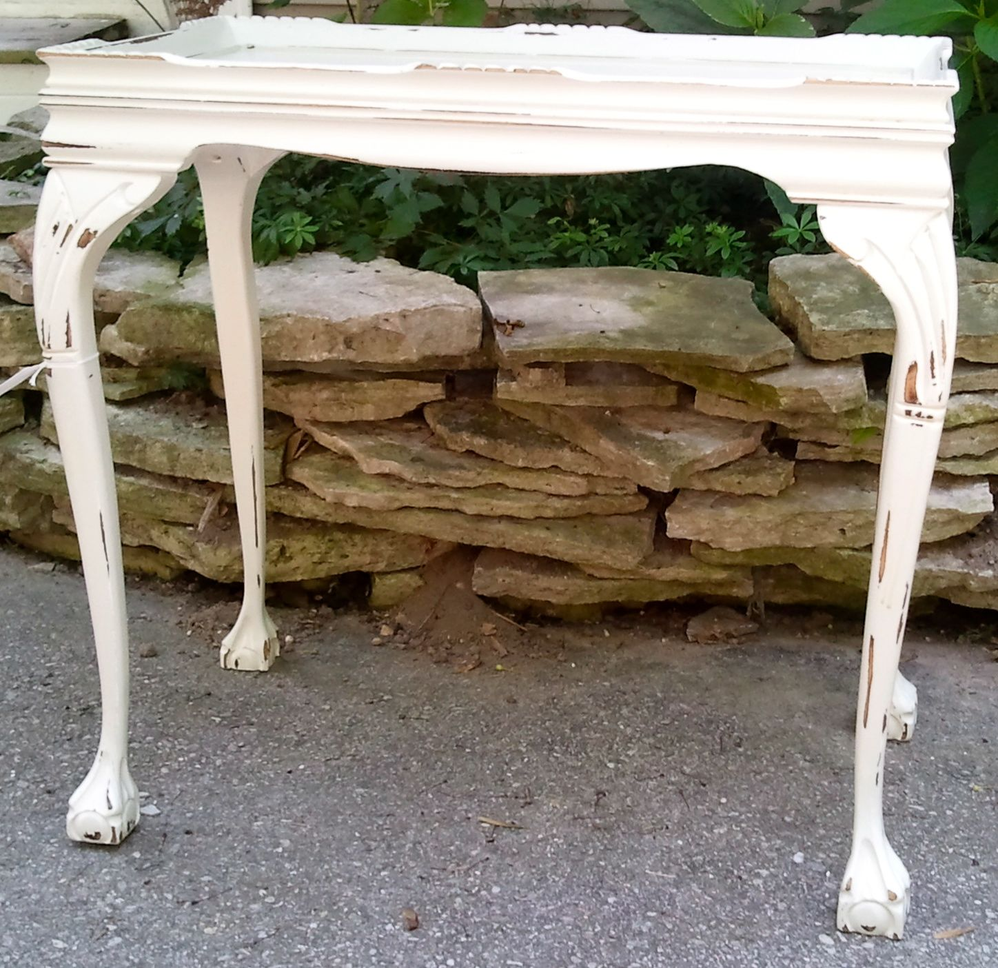 Cottage Couture Vintage Side Table