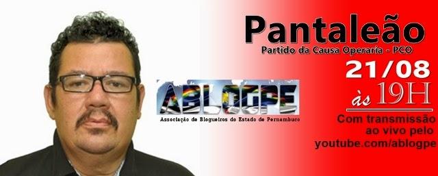 #AblogPE 2014 Nesta Quinta, Blogueiros Conversam Com O Candidato Ao Governo Pantaleão