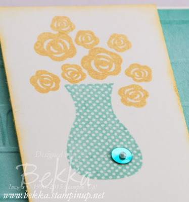 Vase of Flowers Card made with the Floral Wings From Stampin' Up! UK - check it out here