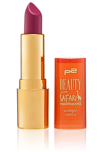 Preview: p2 Limited Edition: Beauty goes Safari - sunlight lipstick - www.annitschkasblog.de