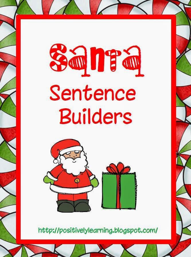 Christmas sentence builders