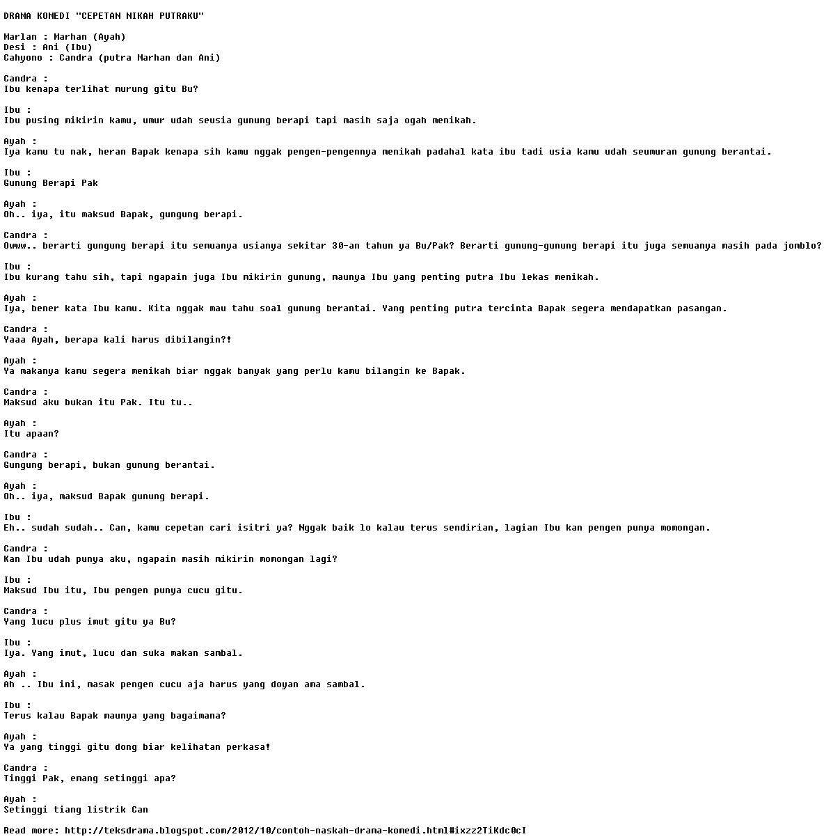 contoh naskah drama komedi indonesia 1024 x 243 60 kb jpeg contoh