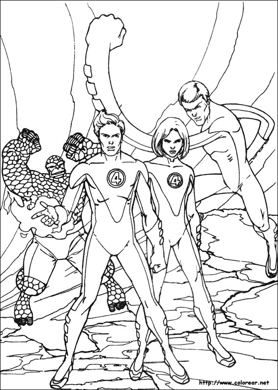 Laminas para colorear coloring pages los 4 fantasticos for Fantastic four coloring pages
