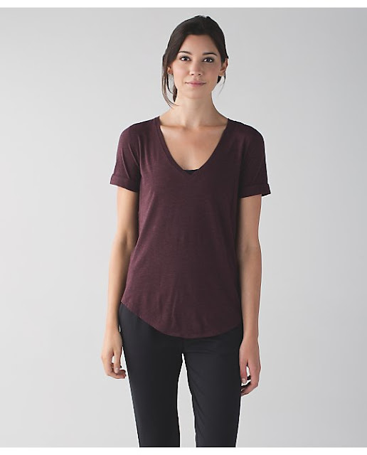 lululemon love-tee-bordeaux