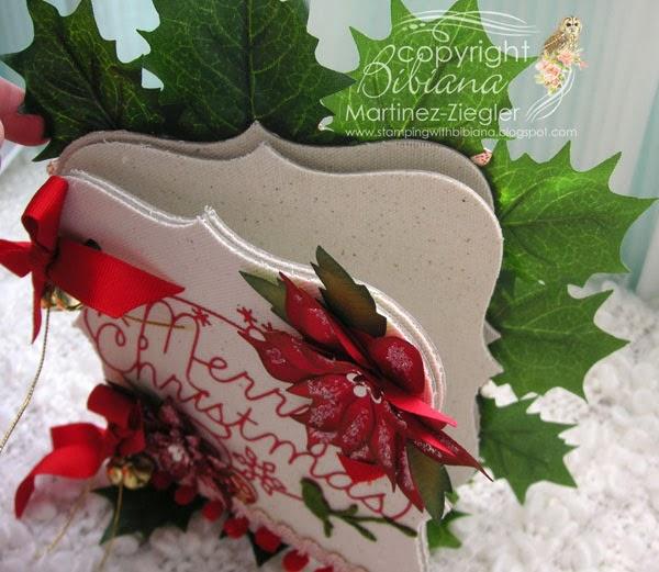 Stamping with bibiana mini christmas photo album - Como hacer un album de fotos ...
