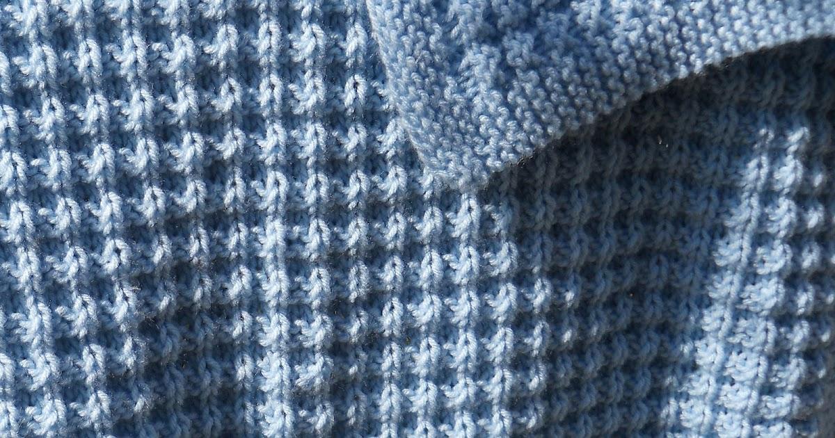 Waffle Knitting Pattern Blanket : Suzies Stuff: WARM WAFFLES BABY BLANKET