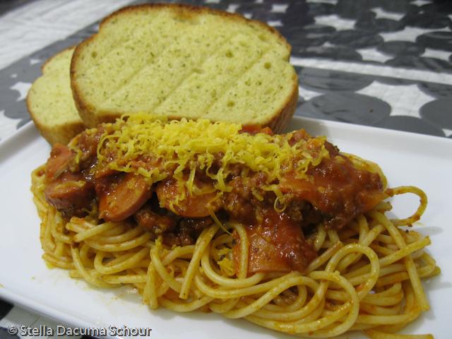 Spaghetti With Hot Dogs Recipe Filipino
