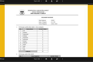 Download Program Kerja dan Administrasi Mapel IPA / KIMIA SMA Kelas XI Tahun 2015-2016