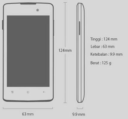 Dimensi OPPO Joy Android Murah