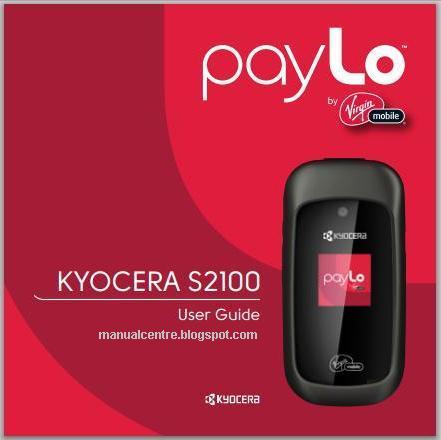 Kyocera S2100 Manual Cover