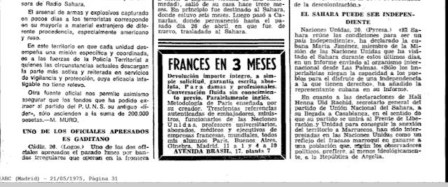 El Sahara puede ser independiente (Marta Jimenez, 20 mayo 1975)