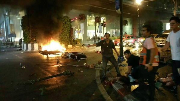 Explosão de bomba relatado em Banguecoque