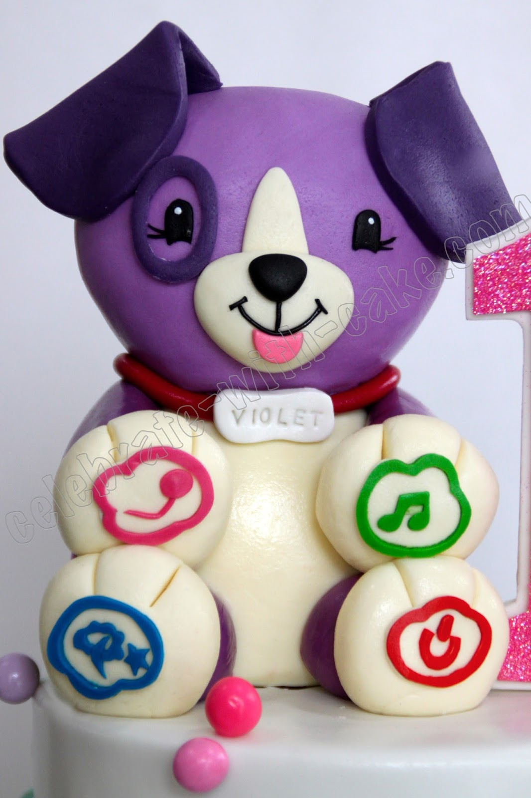 Celebrate With Cake Melting Tiers Effect With Violet Leapfrog