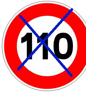 110km A partir del 01.de Julio la velocidad máxima de 120 km/h. en autopistas y autovías estará de vuelta