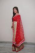 Priyal Gor Dazzling in Red Saree-thumbnail-18