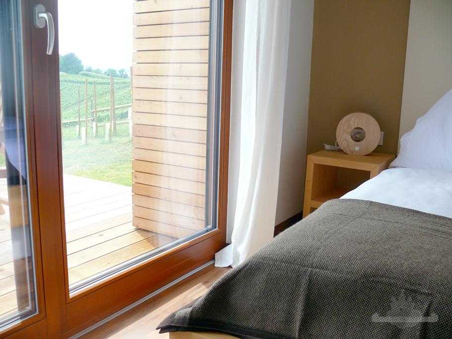Ausblick Schlafzimmer Weingarten Resort Unterlamm-Loipersdorf