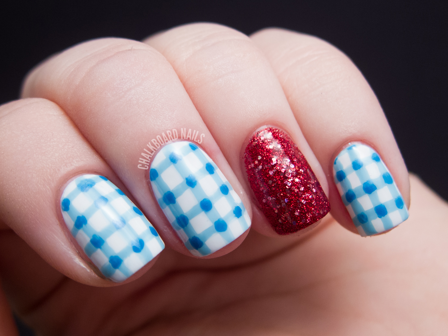 Costume Nails Dorothy From The Wizard Of Oz Chalkboard Nails
