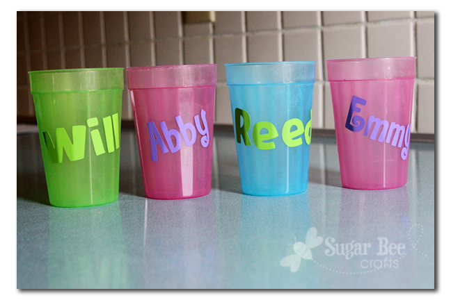 Where Are All The Cups Sugar Bee Crafts - Vinyl for cups