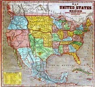 War Papers Maps - Us map in 1848