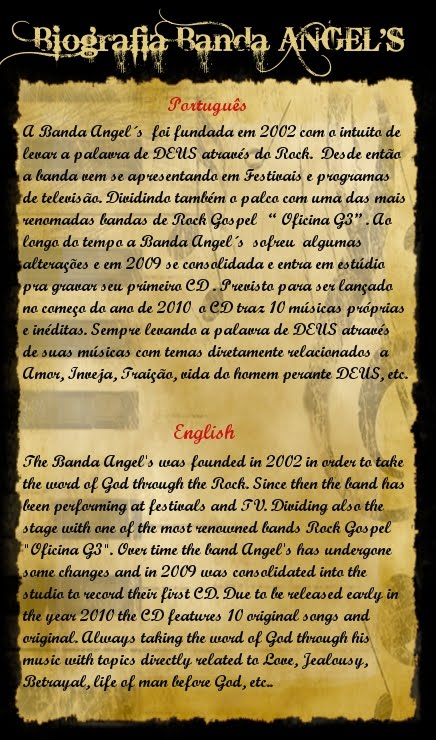 Biografia Angel's
