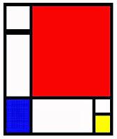 Imagen Composición rojo, azul y amarillo de Mondrian . Entrada explicando las composiciones equilibradas, armónicas utilizando los tres colores primarios. Ejemplos de obras de Vermeer, Picasso, Miró y Mondrian. Ensayo escrito por Juan Sánchez Sotelo para la Academia de dibujo y pintura Artistas6 de Madrid. Clases y cursos para aprender a dibujar y pintar