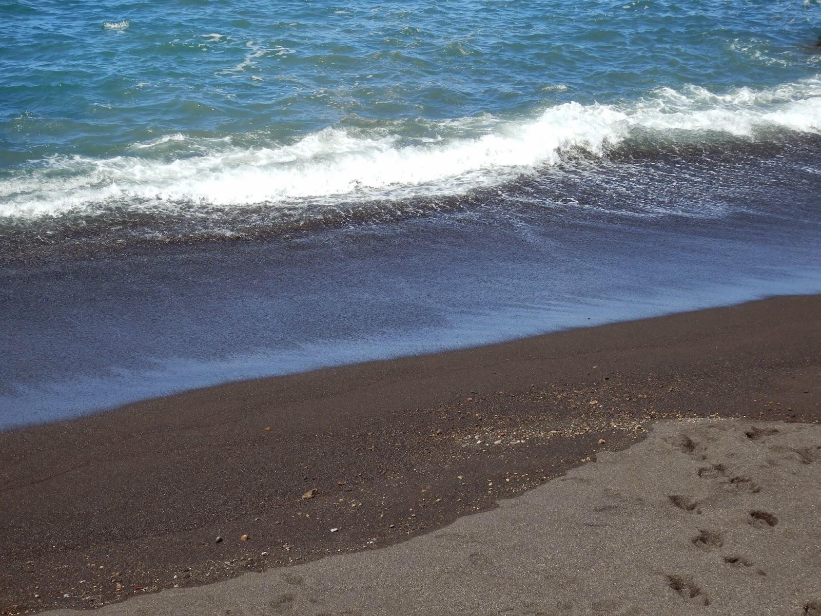 Black sand on Tenerife beach