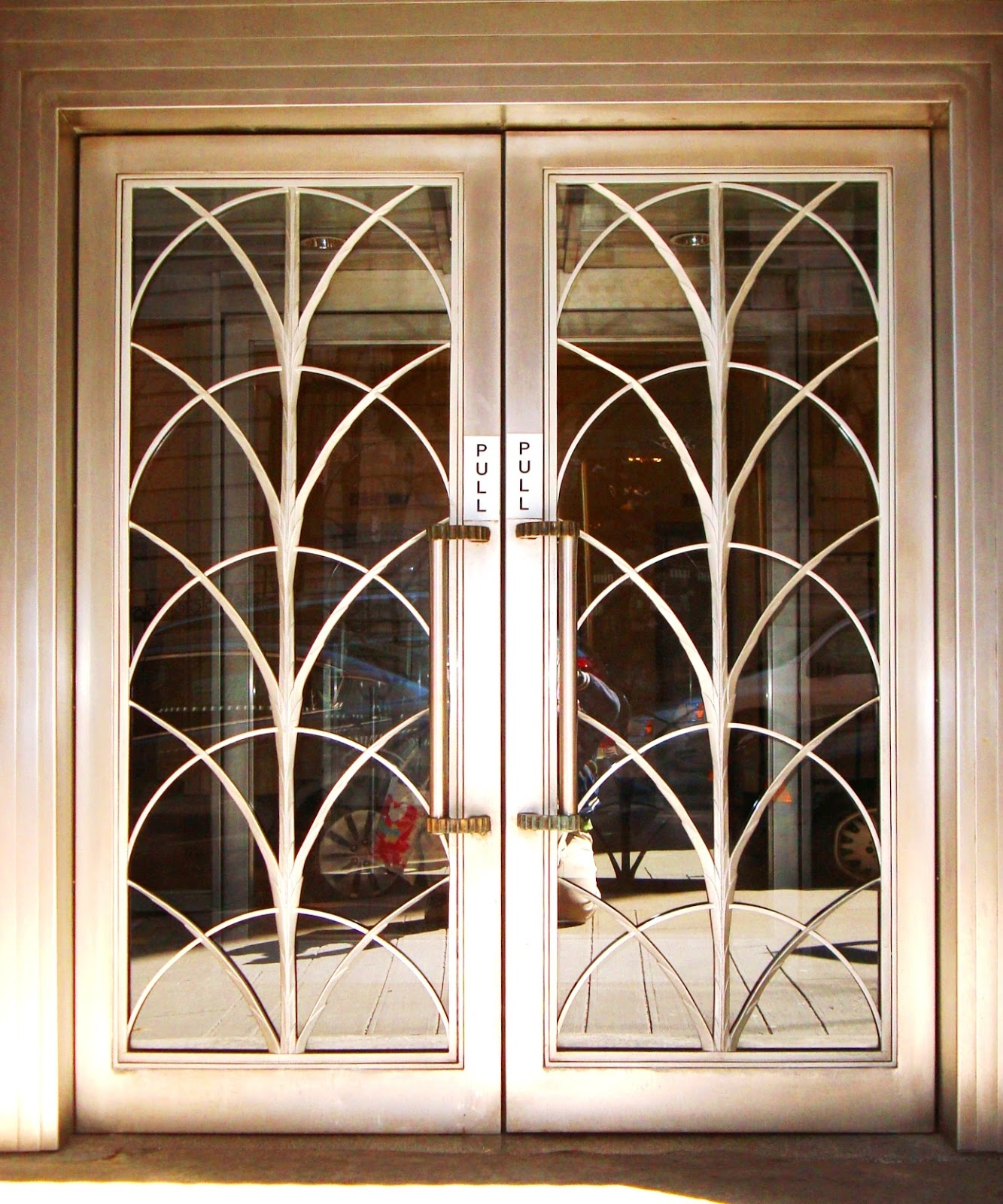 David cobb craig art deco doors in n y c for Art glass windows and doors
