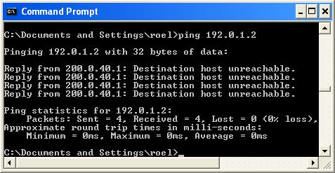 Ping 192.0.1.2