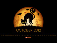 Desktop Wallpaper Calendar October 2012 - Halloween edition (Smashing Magazine)